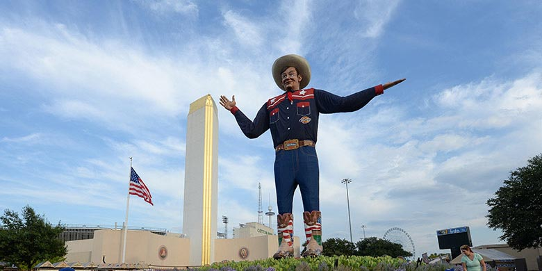 Big Tex at Texas State Fair. Photo by Kevin Brown/State Fair of Texas.