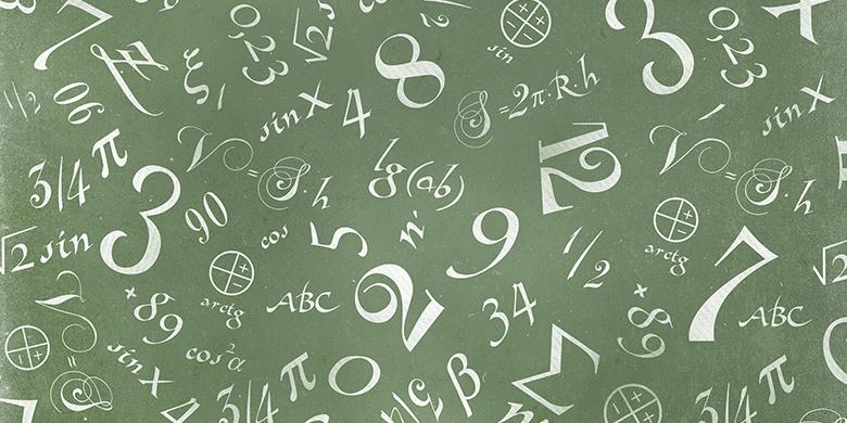 prime numbers, written on chalkboard