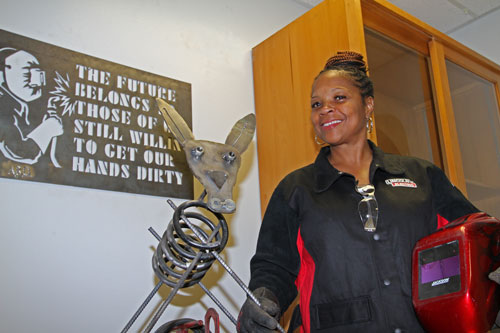 Treddie Johnson, welding student at El Centro and Cedar Valley.