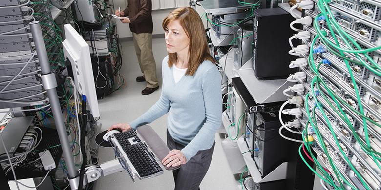 Computer Technicians in Server Room