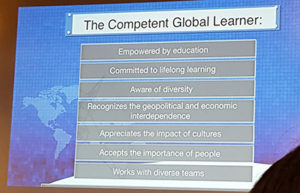 Qualities of a competent global leader.