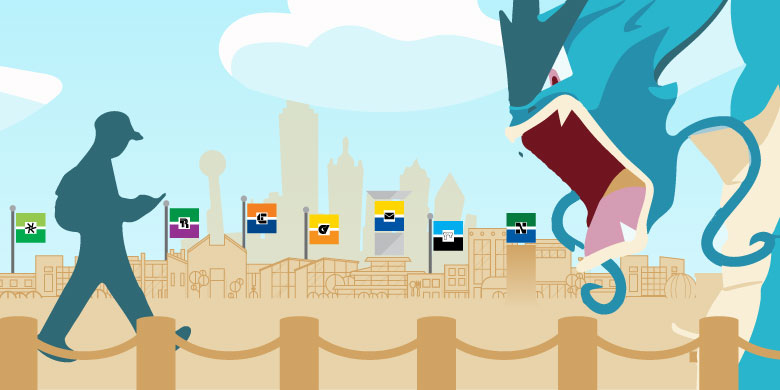 pokemon eating college flags