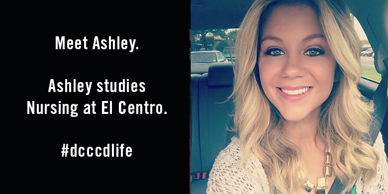 El Centro Nursing student Ashley Griffin