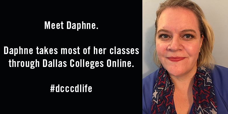 Daphne Johnson, Dallas Colleges Online student