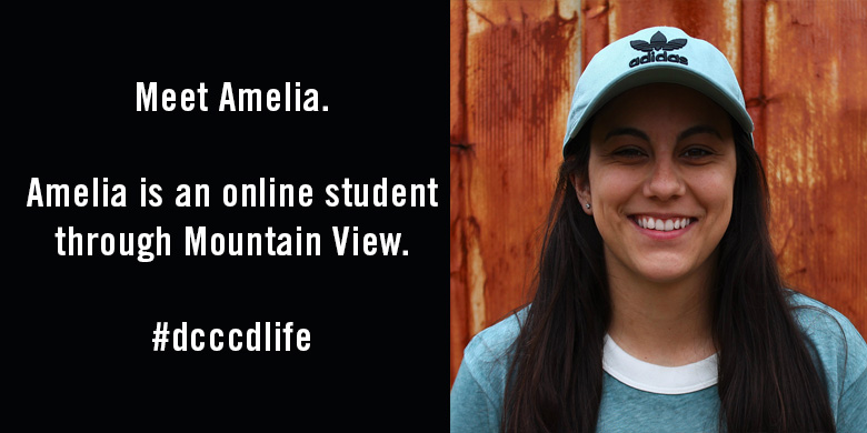 Meet Amelia. She's an online student through Mountain View.