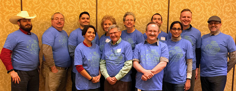 Brookhaven GIS students smile for the camera at the recent ArcGIS User Seminar in Richardson.