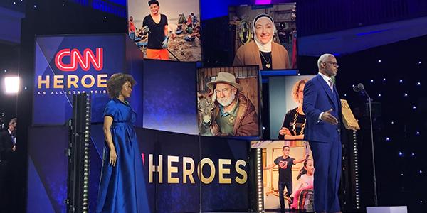 Richard at CNN Heroes award with Actress Alfre Woodard