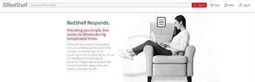 A screenshot of the RedShelf website.