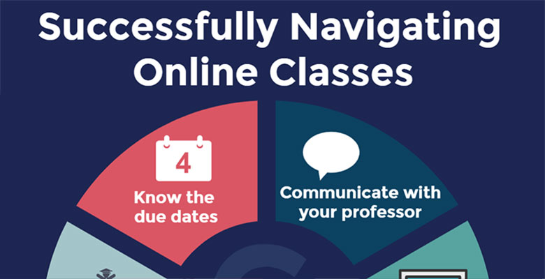 Infographic for Successful Navigating Online Classes