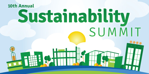 "Sustainability Summit logo with the words ""10th Anniversary"" added"
