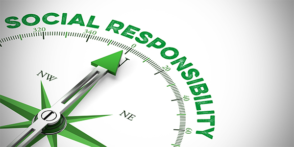 Compass pointing to Social Responsibility