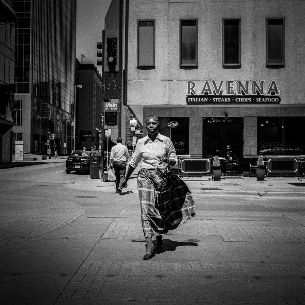 Woman at Crosswalk, 2014