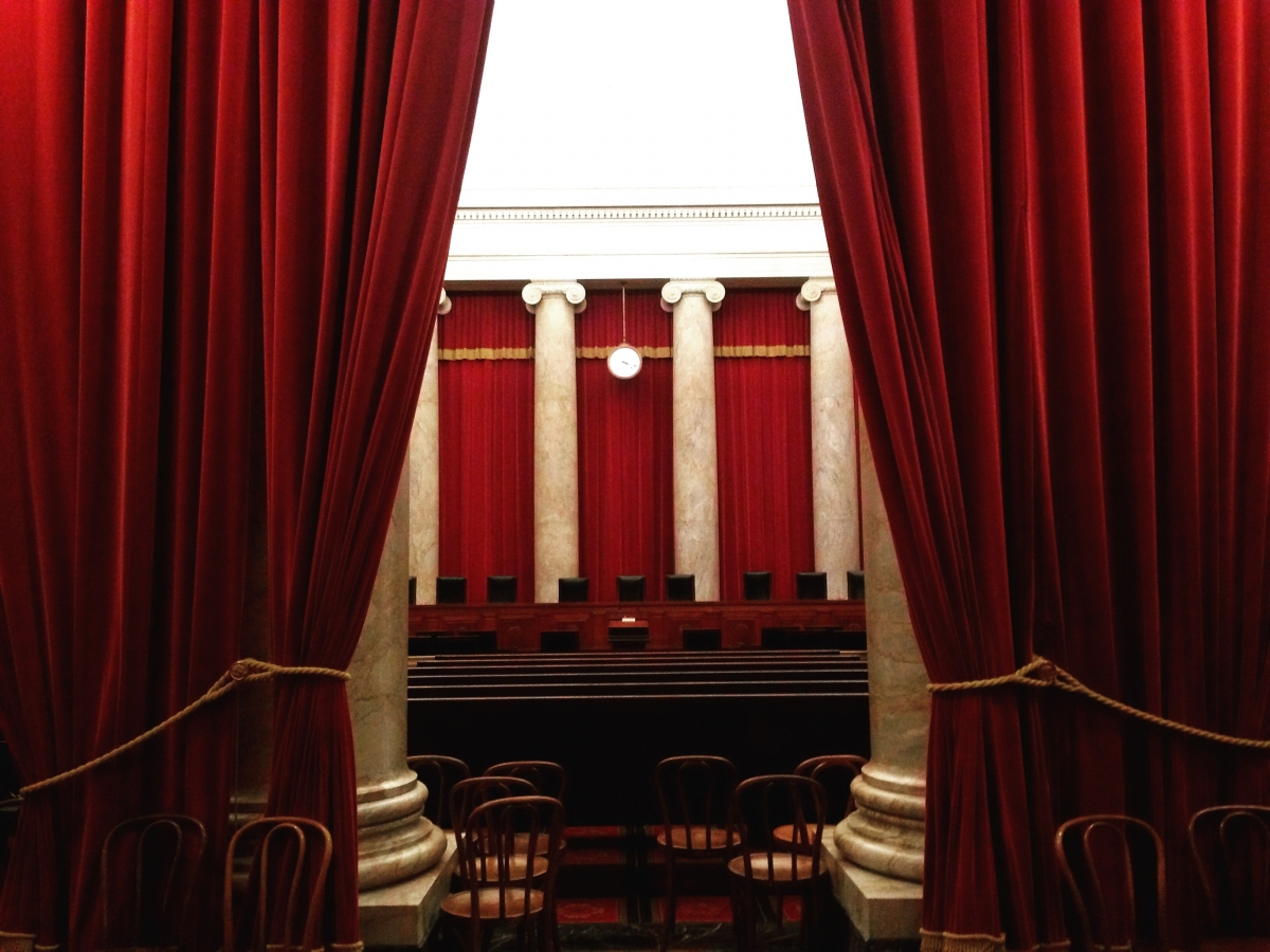 The Supreme Court chambers in Washington, DC.